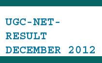 Result of UGC NET held on December 30, 2012  New
