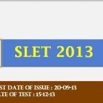 SLET 2013 Assam