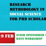 ICSSR Sponsored 10 Days Workshop