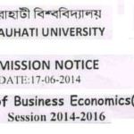 Master of Business Economics : Gauhati University