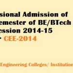 Counselling of 1st Round Under CEE 2014