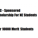 UGC sponsored merit scholarship for North East Students
