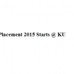 Placement starts at Kaziranga University , Jorhat