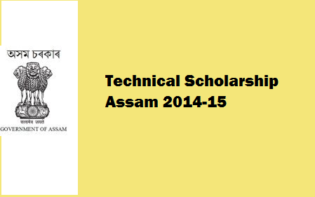 Directorate of Technical Education Assam Scholarship 2014-15