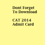 Admit Card for CAT 2014