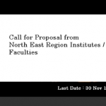 Call for Proposal from the  North East Region Institutes
