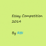 RBI announced Essay Competition, 2014