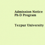 Admission Notice : Ph-D  Spring Semester Programme 2015