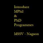 M. Phil. and Ph.D. Programmes in Sankaradeva Studies – Academic Session : 2015