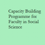 Workshop On  Capacity Building Programme for Faculty in Social Science , Shillong