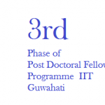 Admission to 3rd Phase of Institute Post Doctoral Fellowship Programme , IIT Guwahati