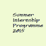 Summer Internship Programme 2015 at Tezpur University