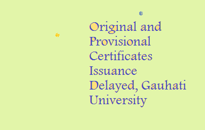 Notification on Original and Provisional Certificates Issuance Delay Process, Gauhati University