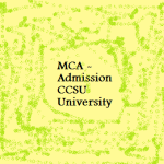 MCA Fifth Semester Admission 2015 – CCSU University