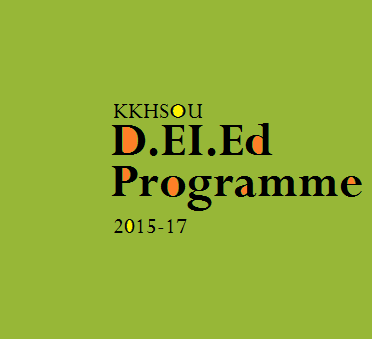 KKHSOU Plans D.EI.Ed Programme for session  2015-17