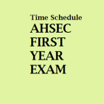 AHSEC : Schedules for Assam Higher Secondary First Year Exam 2016 Released