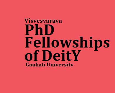 Visvesvaraya PhD Fellowships of DeitY under  Gauhati University