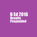 Results of Dibrugarh University B.Ed. CET 2016